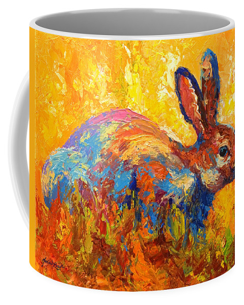 Rabbit Coffee Mug featuring the painting Forest Rabbit II by Marion Rose