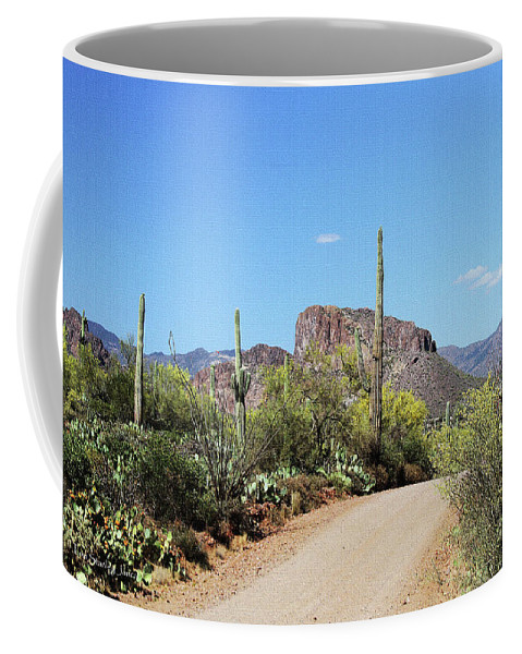 Forest Road 172 Coffee Mug featuring the digital art Forest Road 172 Tonto National Forest by Tom Janca