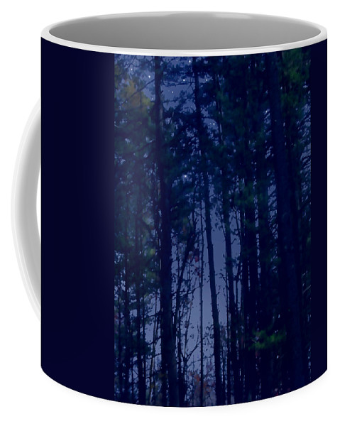 Forest Coffee Mug featuring the painting Forest Starlight by Paul Sachtleben