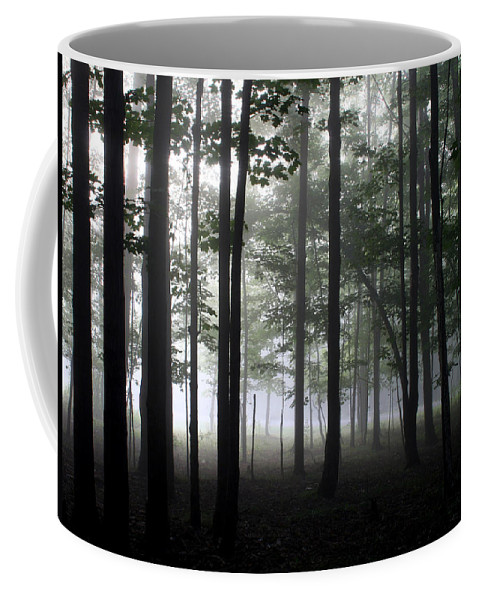 Nature Photography Coffee Mug featuring the photograph Forest Through The Trees by Doug Hockman Photography