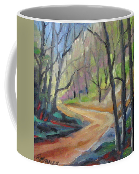 Art Coffee Mug featuring the painting Forest Way by Richard T Pranke