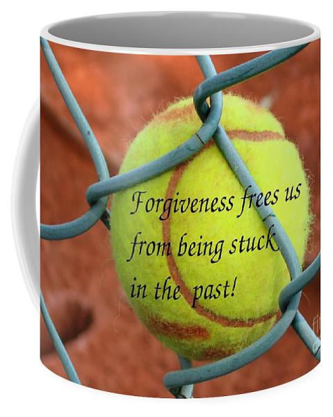 Forgiveness Coffee Mug featuring the photograph Forgiveness Frees Us by Yali Shi