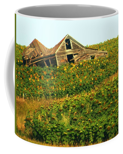 Old Building Coffee Mug featuring the photograph Forgotten by Marilyn Smith