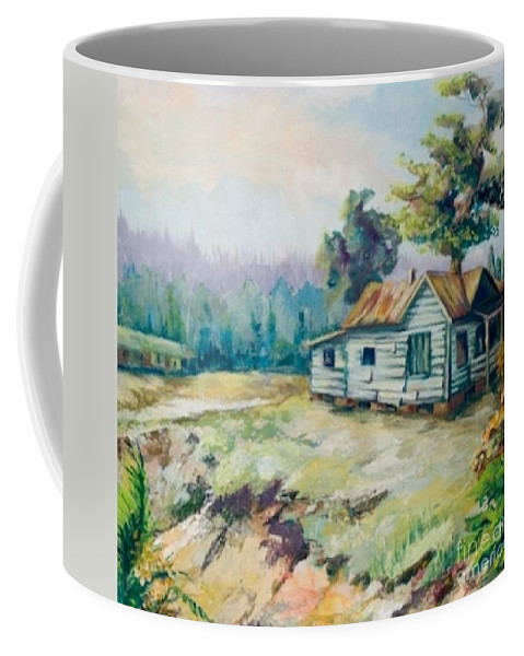 Old Houses Coffee Mug featuring the painting Forgotten Places II by Elisabeta Hermann