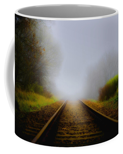 Art Coffee Mug featuring the photograph Forgotten Railway Track by Svetlana Sewell