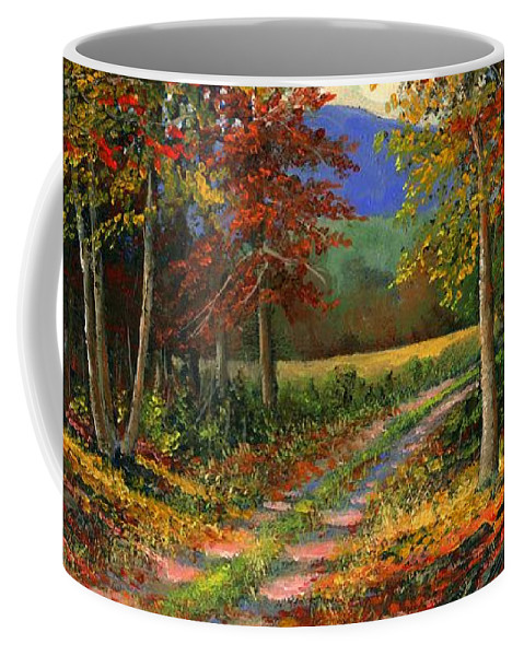 Landscape Coffee Mug featuring the painting Forgotten Road by Frank Wilson