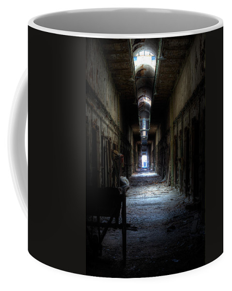 Eastern State Coffee Mug featuring the photograph Forgotten Times by Scott Wyatt