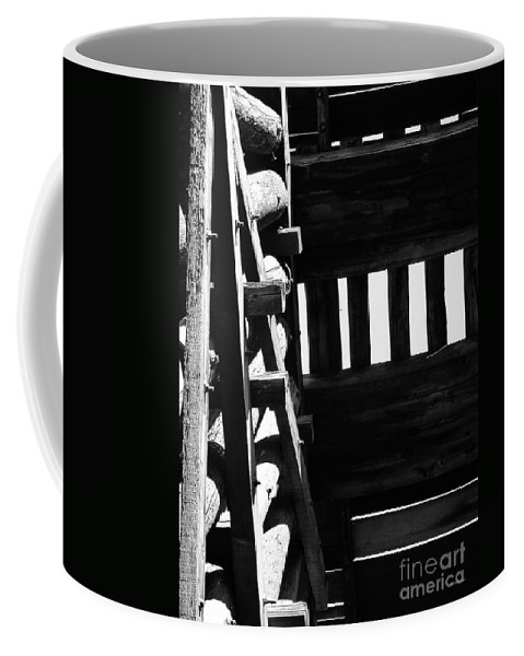 Black And White Coffee Mug featuring the photograph Form And Function 3 by Xueling Zou