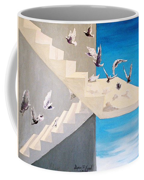 Birds Coffee Mug featuring the painting Form Without Function by Steve Karol