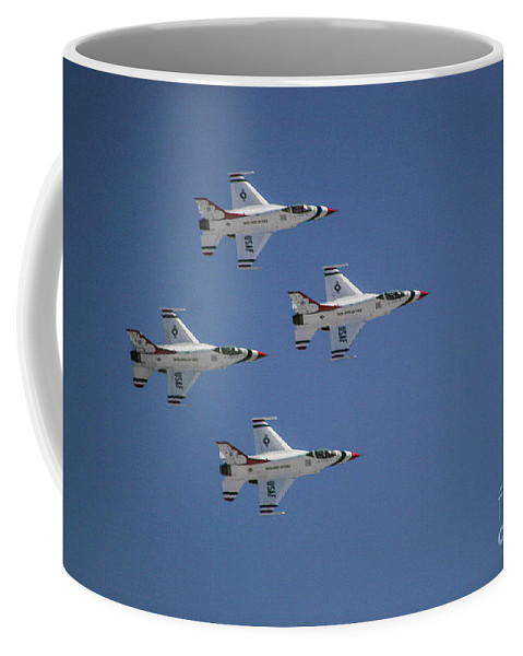 Air Force Coffee Mug featuring the photograph Formation Flying by Chandra Nyleen