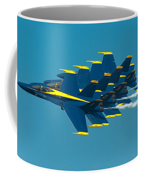 Us Navy Coffee Mug featuring the photograph Formation by Sebastian Musial