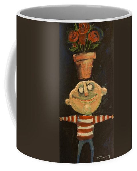 Man Coffee Mug featuring the painting Forrest The Florist by Tim Nyberg