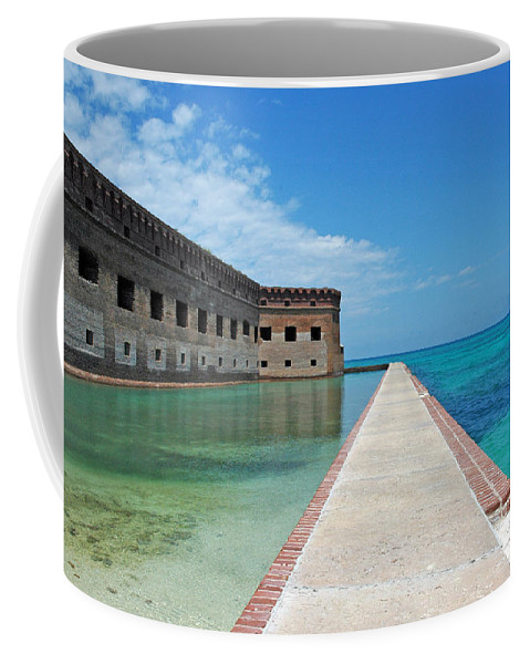 Fort Jefferson Coffee Mug featuring the photograph Fort Jefferson Dry Tortugas by Susanne Van Hulst