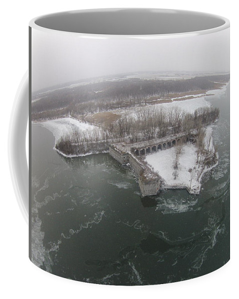 Fort Coffee Mug featuring the photograph Fort Montgomery Winter by Jedidiah Thone