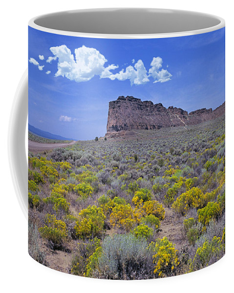 Fort Coffee Mug featuring the photograph Fort Rock by Buddy Mays