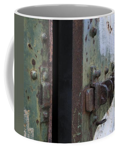 Door Coffee Mug featuring the photograph Fort Worden Detail 3586 by Bob Neiman