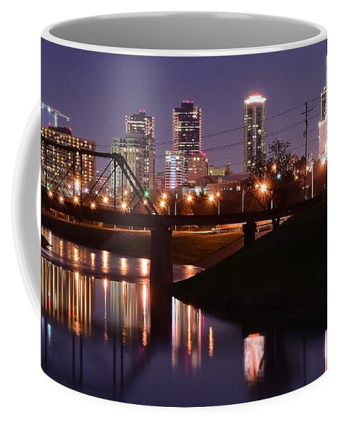 Fort Coffee Mug featuring the photograph Fort Worth Panorama by Frozen in Time Fine Art Photography