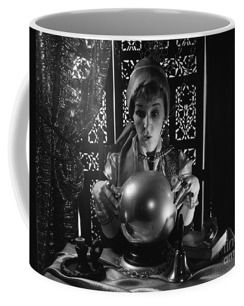 1970s Coffee Mug featuring the photograph Fortune Teller, C.1970s by H. Armstrong Roberts/ClassicStock