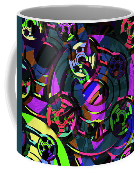 Digital Art Coffee Mug featuring the digital art Fortune Wheels by John Kaiser