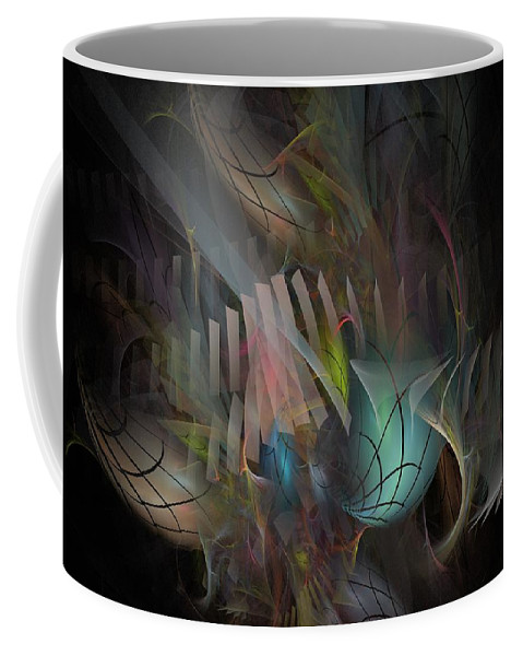 Fortune Coffee Mug featuring the digital art Fortune Willing - Fractal Art by NirvanaBlues