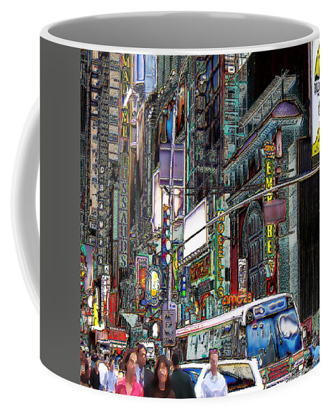 New York City Coffee Mug featuring the photograph Forty Second And Eighth Ave N Y C by Iowan Stone-Flowers