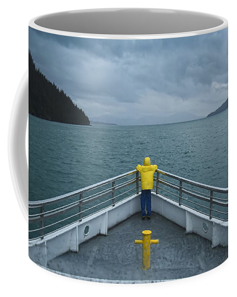 Photograph Coffee Mug featuring the photograph Forward Lookout by David Wagner