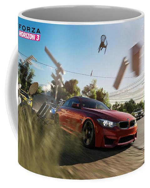 Forza Horizon 3 Coffee Mug featuring the digital art Forza Horizon 3 by Zia Low