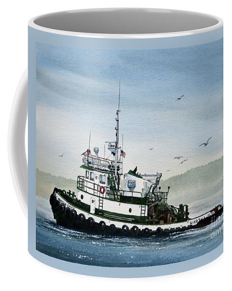 Tugs Coffee Mug featuring the painting Foss Tugboat Martha Foss by James Williamson