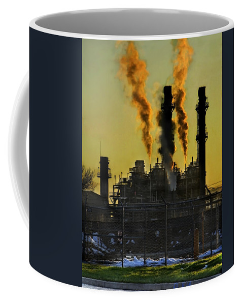 Smoke Coffee Mug featuring the photograph Fossil Fuels by Jeffery Ball