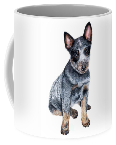 Dog Coffee Mug featuring the drawing Foster by Kristen Wesch