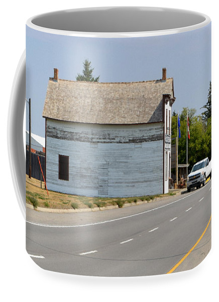 Historic Coffee Mug featuring the photograph Fort Macleod Alberta by Ed Mosier