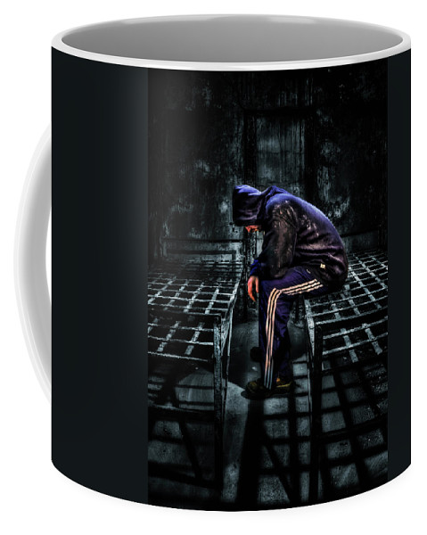 Cell Coffee Mug featuring the photograph Found Guilty by Evelina Kremsdorf