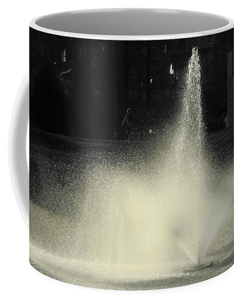 Water Coffee Mug featuring the photograph Fountain by Sarah Houser