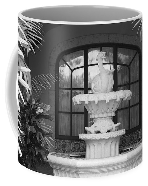 Architecture Coffee Mug featuring the photograph Fountian And Window by Rob Hans