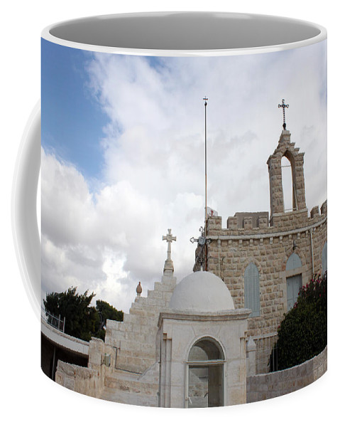 Milk Grotto Coffee Mug featuring the photograph Four Crosses by Munir Alawi