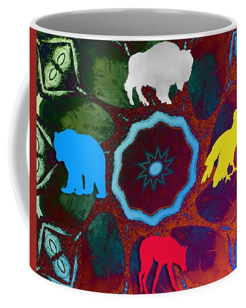 Wildlife Coffee Mug featuring the digital art Four Directions  -009 by Will Logan