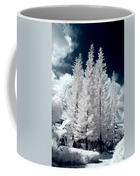 3scape Photos Coffee Mug featuring the photograph Four Tropical Pines Infrared by Adam Romanowicz