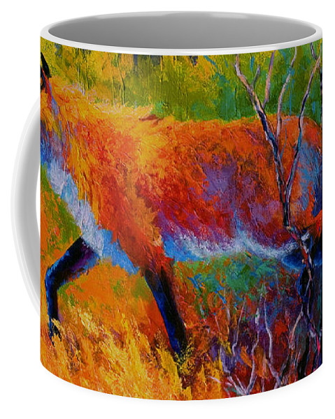 Red Fox Coffee Mug featuring the painting Foxy - Red Fox by Marion Rose