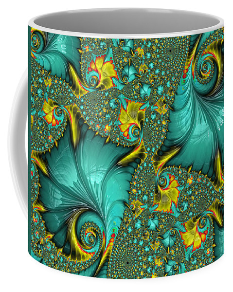 Fractal Coffee Mug featuring the digital art Fractal Art - Gifts From The Sea By H H Photography Of Florida by HH Photography of Florida