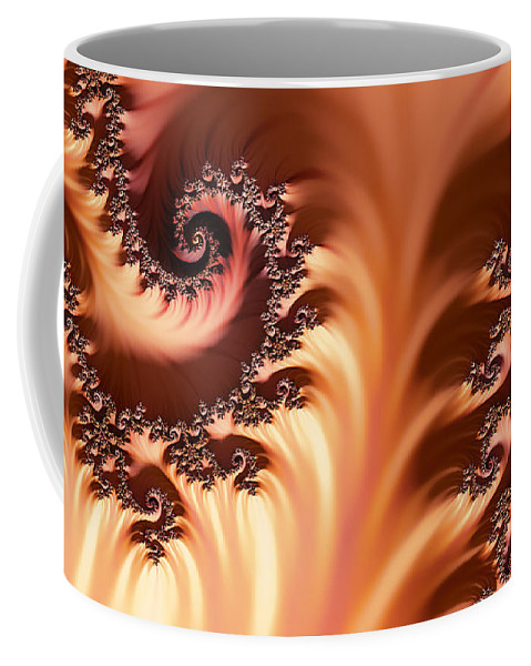 Clay Coffee Mug featuring the digital art Fractal Desert by Clayton Bruster