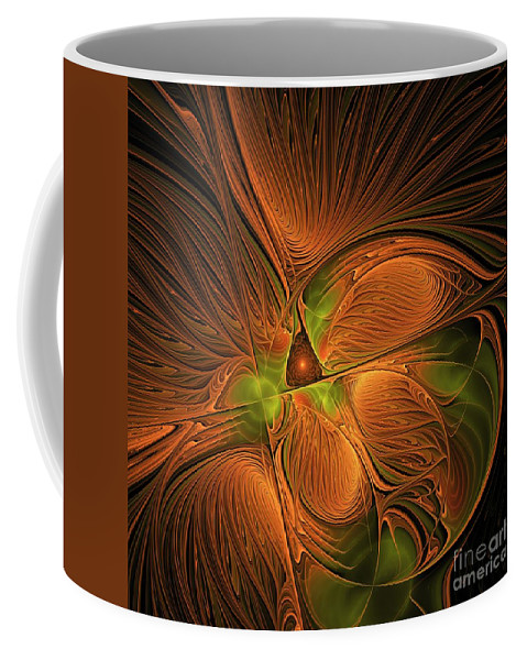 Canvas Coffee Mug featuring the digital art Fractal Design -d- by Issabild -