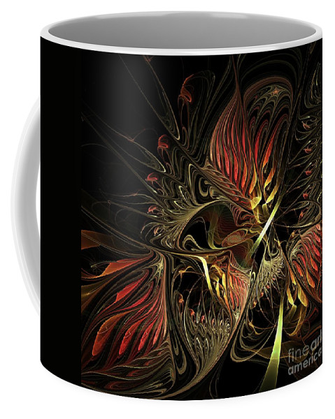 Canvas Coffee Mug featuring the digital art Fractal Design -h- by Issabild -