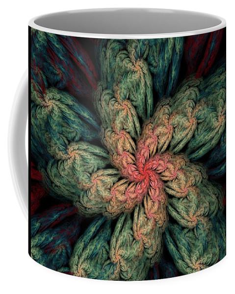 Digital Painting Coffee Mug featuring the digital art Fractal Fantasy 02-13-10 by David Lane