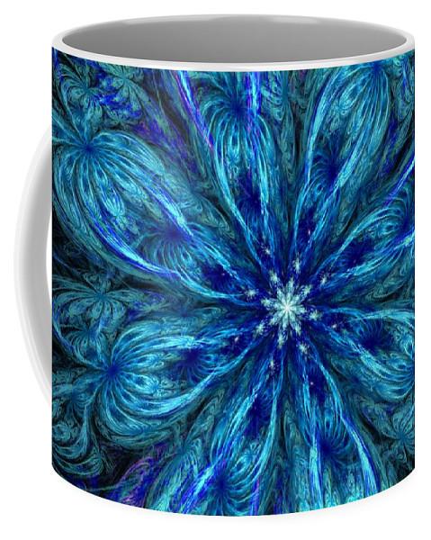 Abstract Coffee Mug featuring the digital art Fractal Flora 062610 by David Lane