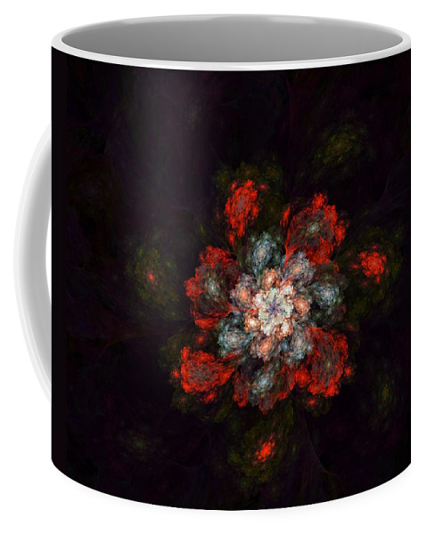 Digital Painting Coffee Mug featuring the digital art Fractal Floral 02-12-10-a by David Lane