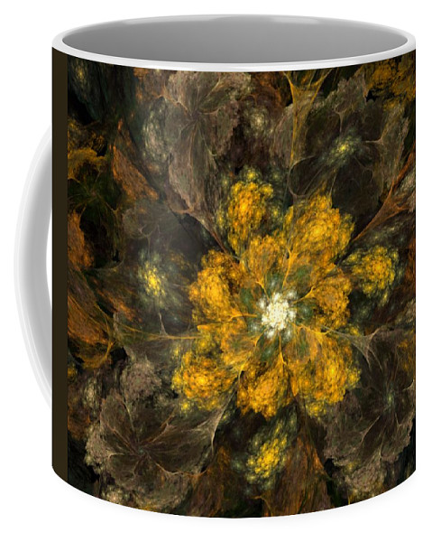 Digital Painting Coffee Mug featuring the digital art Fractal Floral 02-12-10 by David Lane