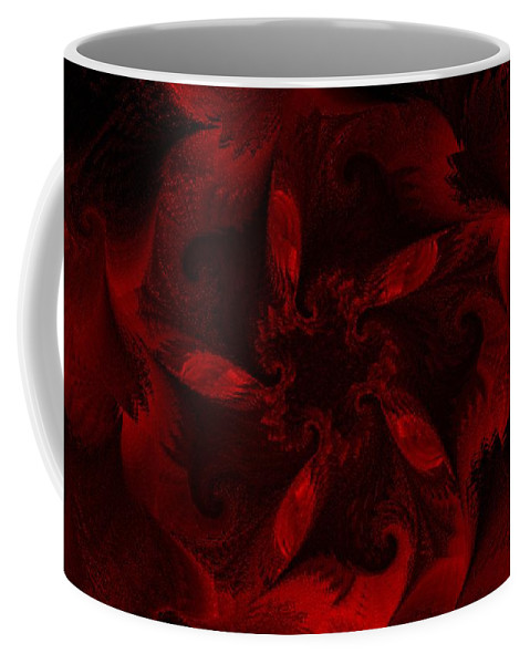 Abstract Digital Painting Coffee Mug featuring the digital art Fractal Garden 18 by David Lane