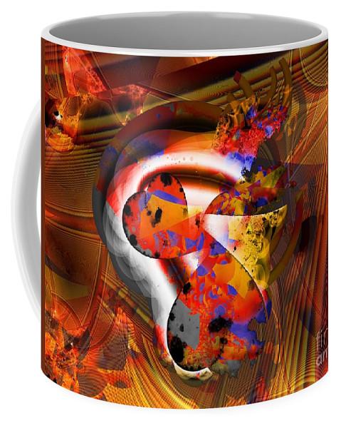 Heart Coffee Mug featuring the digital art Fractal Heart by Ron Bissett
