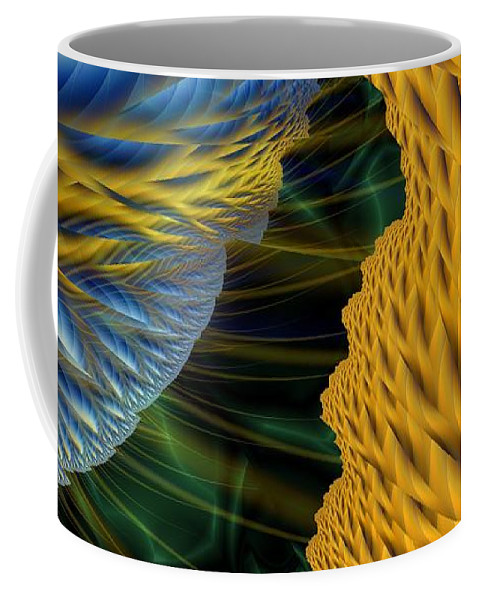 Lightning Coffee Mug featuring the digital art Fractal Storm by Ron Bissett