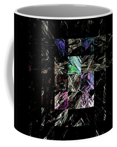 Abstract Digital Painting Coffee Mug featuring the digital art Fractured Fractals by David Lane